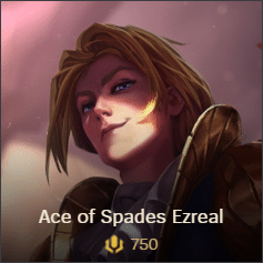 Ace of Spades Ezreal