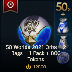 50 Worlds 2021 Orbs 2 Bags 1 Pack 800 Tokens 1